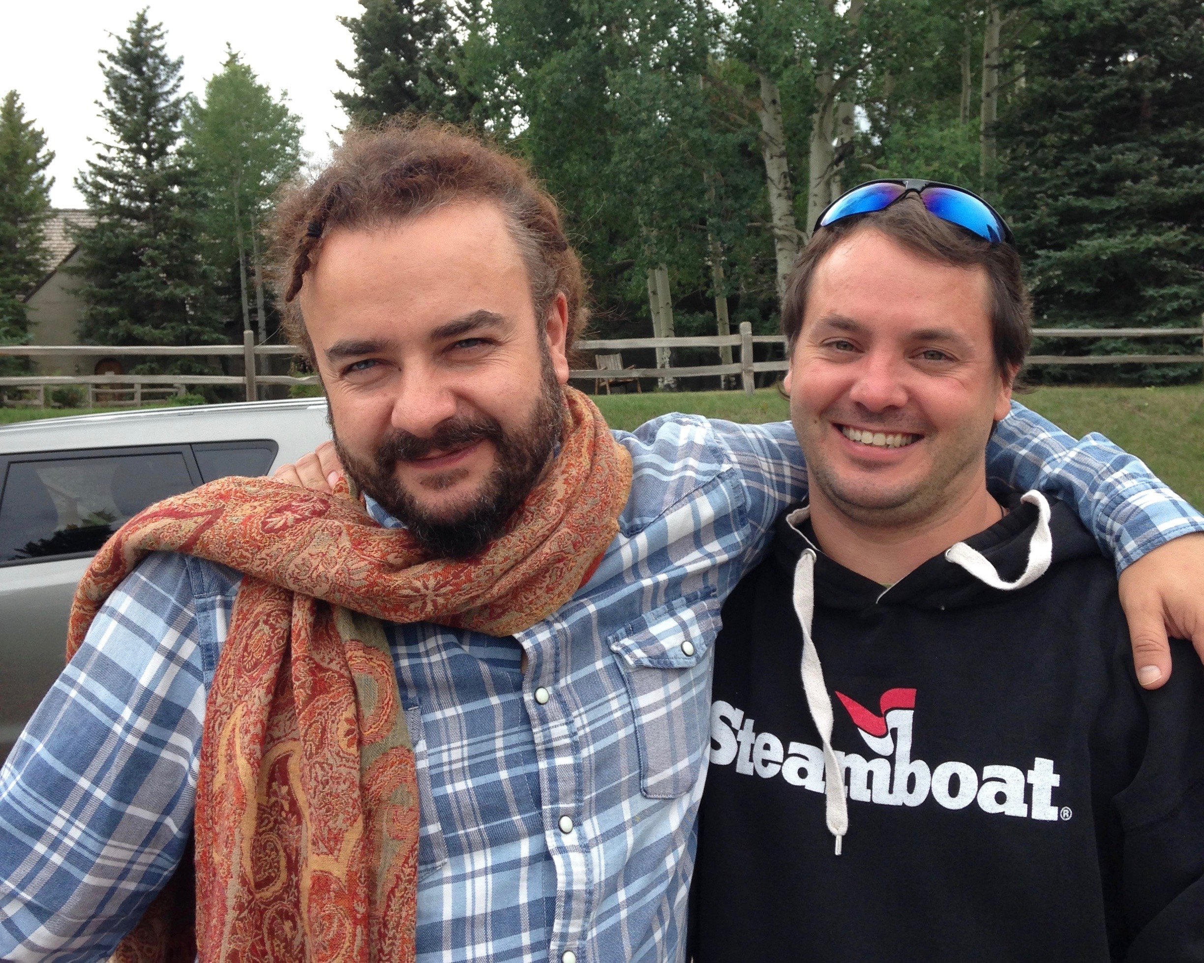 Adam Bucko and Rory McEntee at St. Benedict's Monastery, Snowmass, CO. (N. Miles-Yépez, 2014)