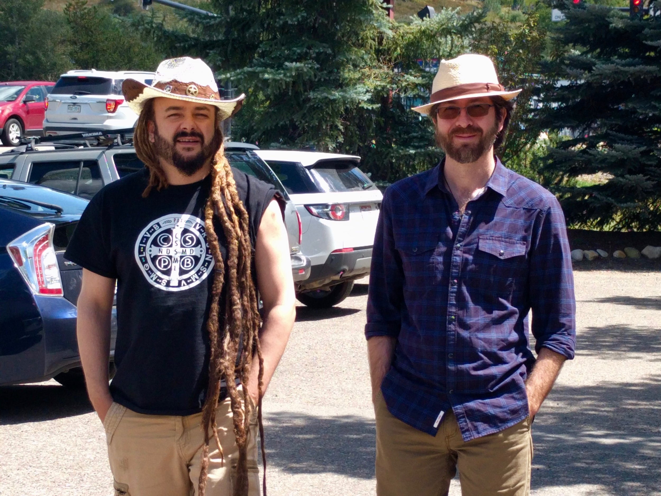 Adam Bucko and Netanel Miles-Yépez in Steamboat Springs, CO.  (R. McEntee, 2017)