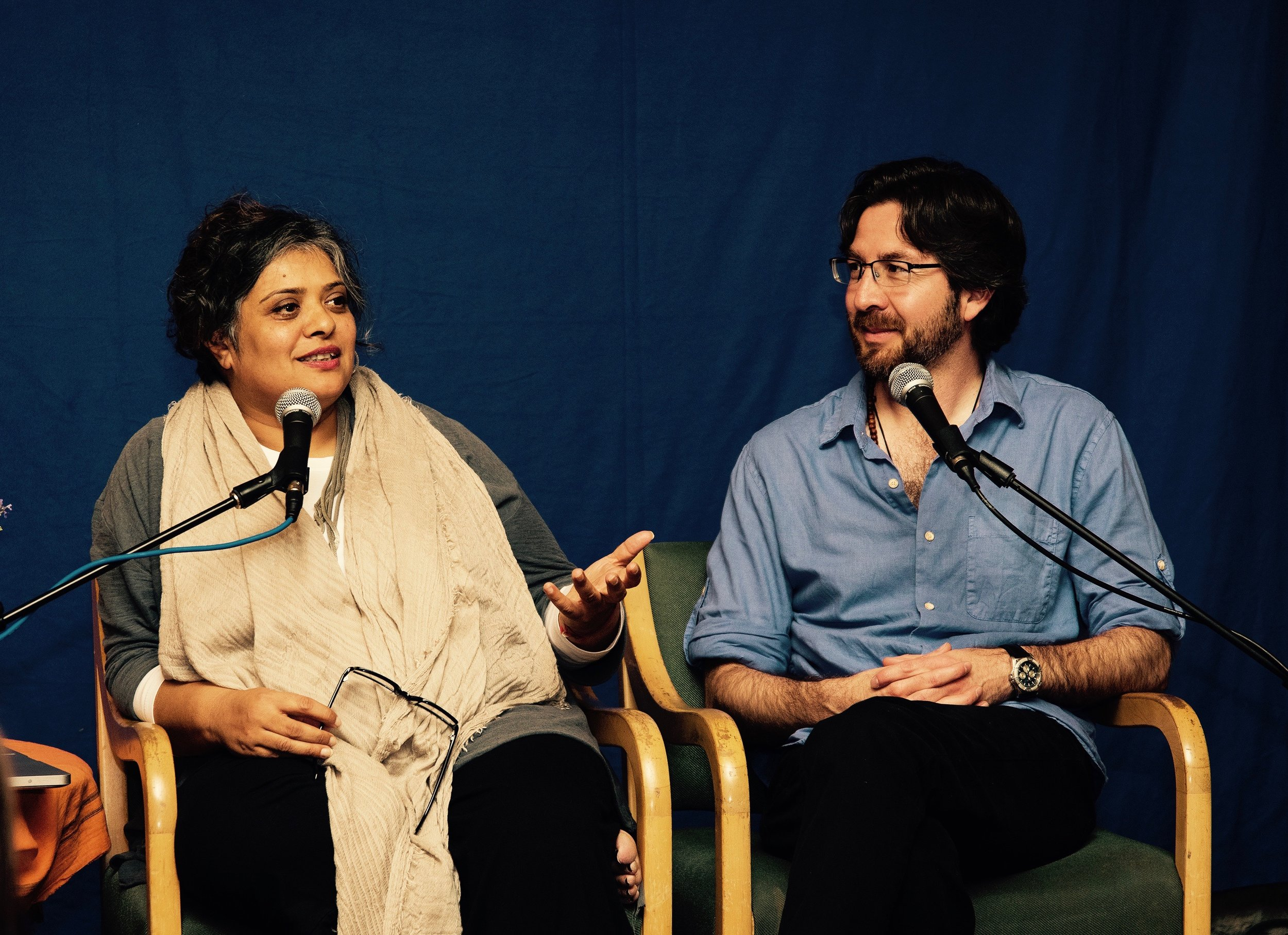 Deepa Patel and Netanel Miles-Yépez at the Abode of the Message, New Lebanon, NY. (H. Benas, 2015)