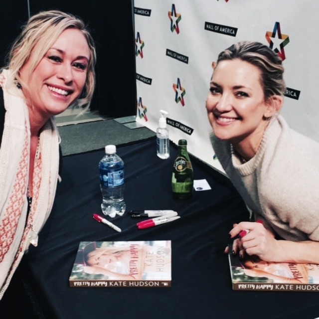 with Kate Hudson ~ Pretty Happy book signing! What a fun day!