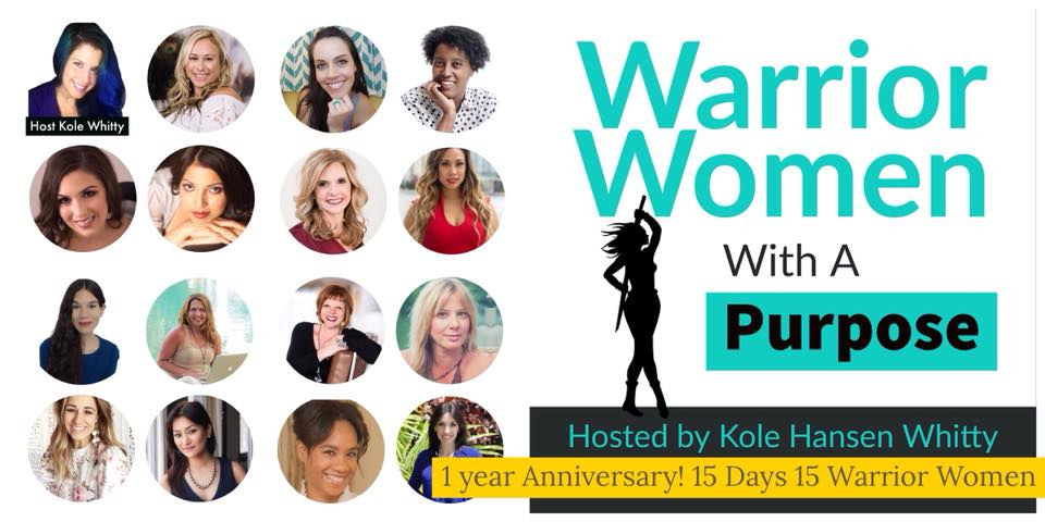 Listen in with my friend friend Kole Whitty on her amazing year anniversary podcast Warrior Women with a Purpose where we dive into all things power + sacred for women!