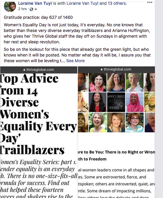 Click the image to read an article I am featured in for Thrive Global