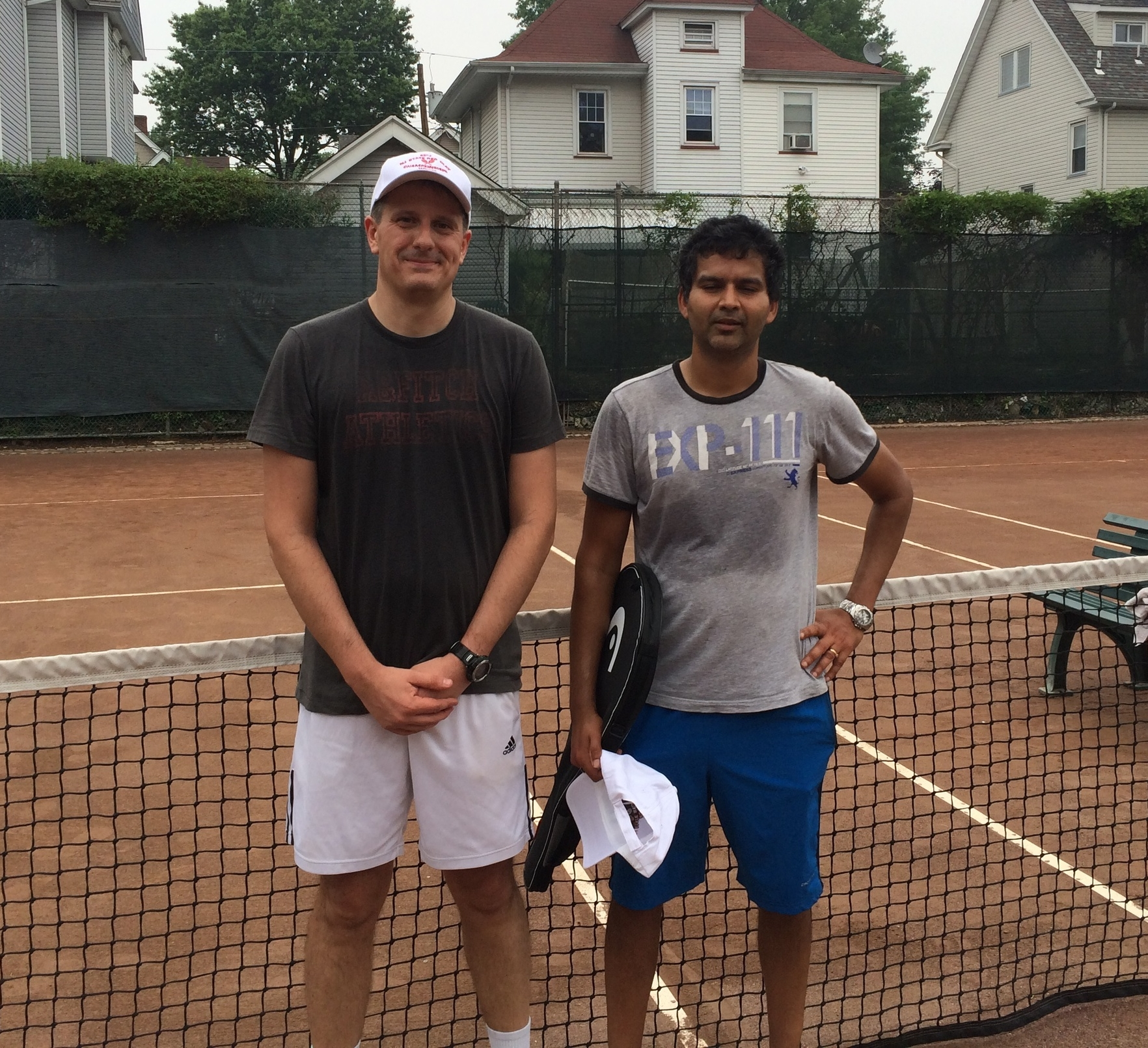 Men's 40+ Winner Marcello Arona (left) & Runner-up Sanjay Dugar (right)