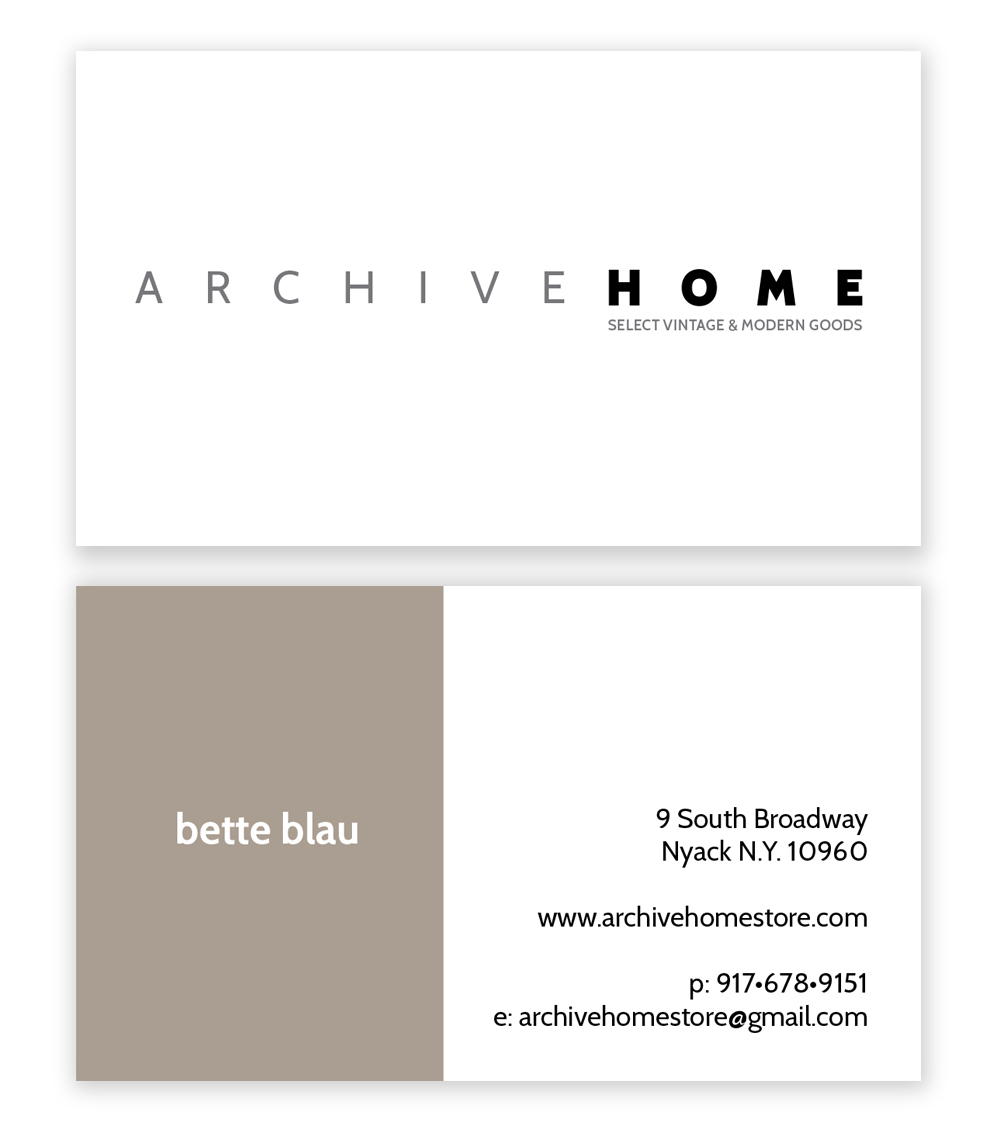 Business Card Client: Archive Home