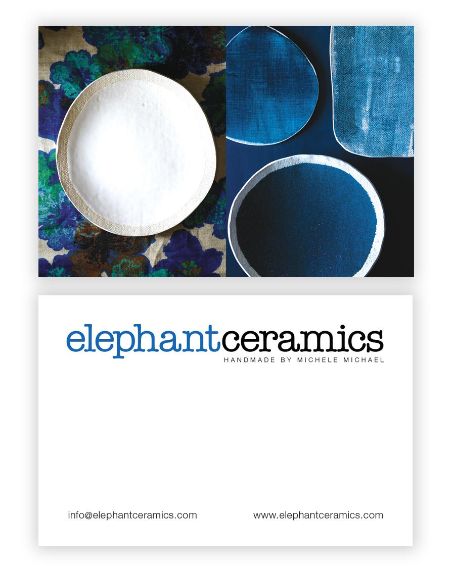 Business Card Client: Elephant Ceramics