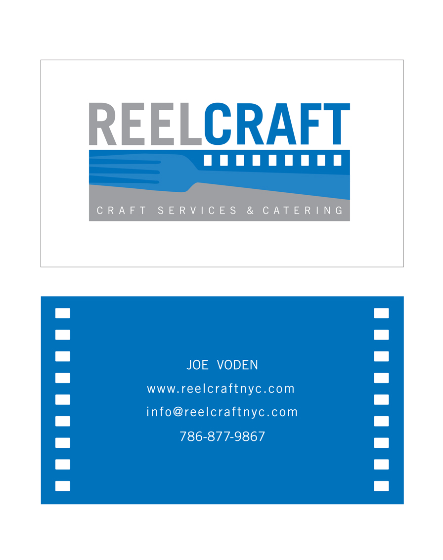 Business Card Client: Joe Voden/Reel Craft Catering