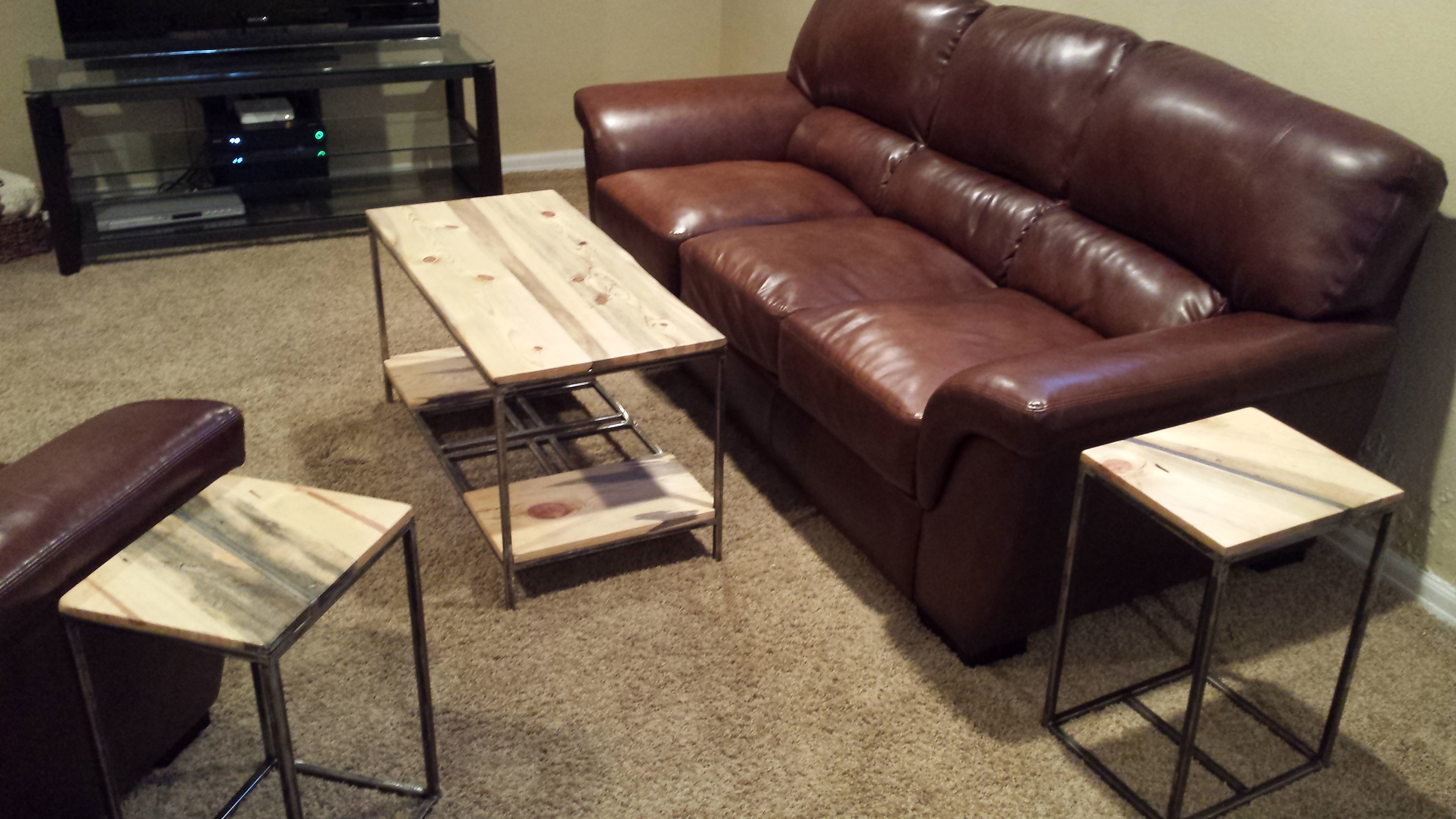 Custom End Tables and Coffee Table