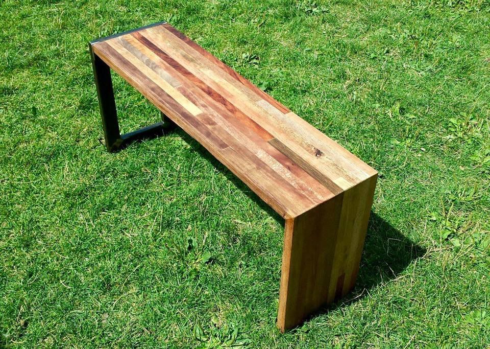 Reclaimed hardwood bench