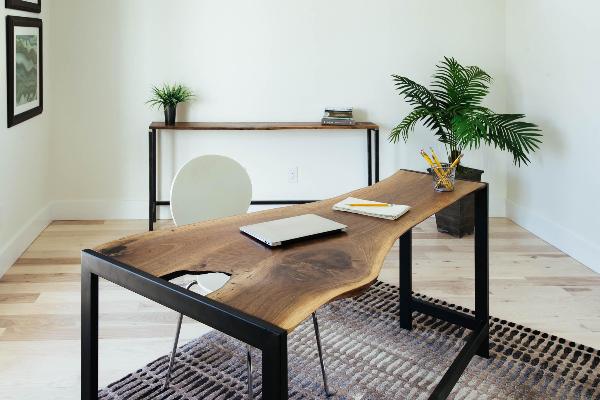 Walnut desk and sofa table