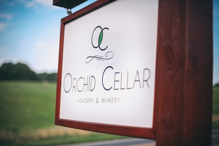 Orchid Cellar Meadery and Winery Sign