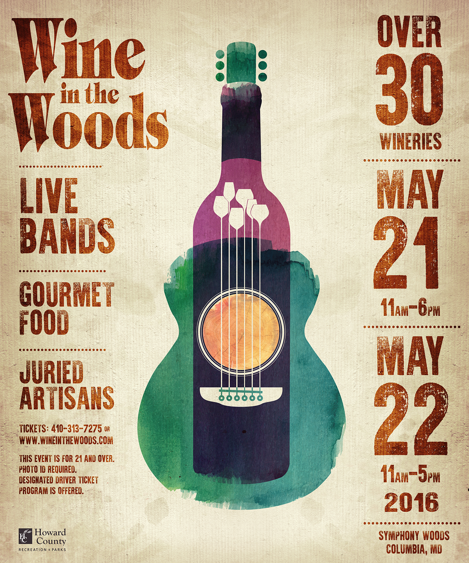 wine in the woods poster