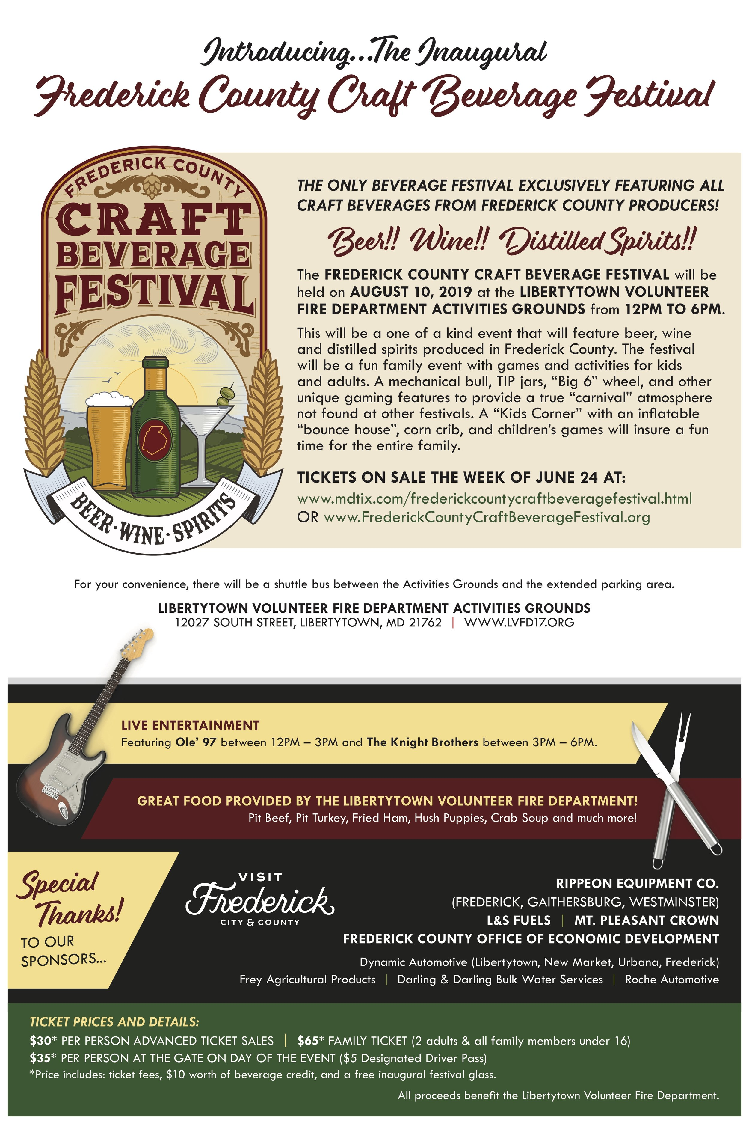 Frederick County Craft Beverage Festival Poster