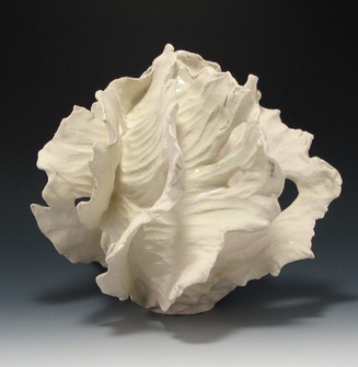 Ceramic Sculptural Winged Vessel