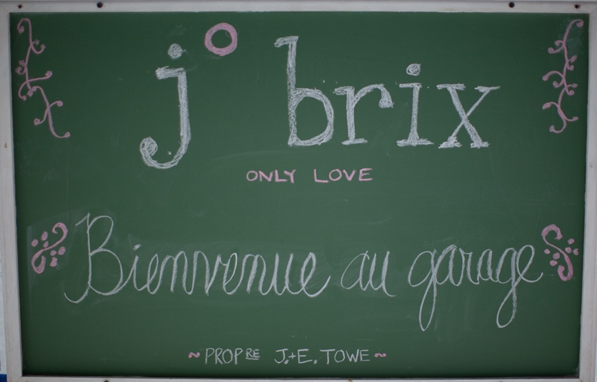 Chalkboard J. Brix sign. Links to Story page