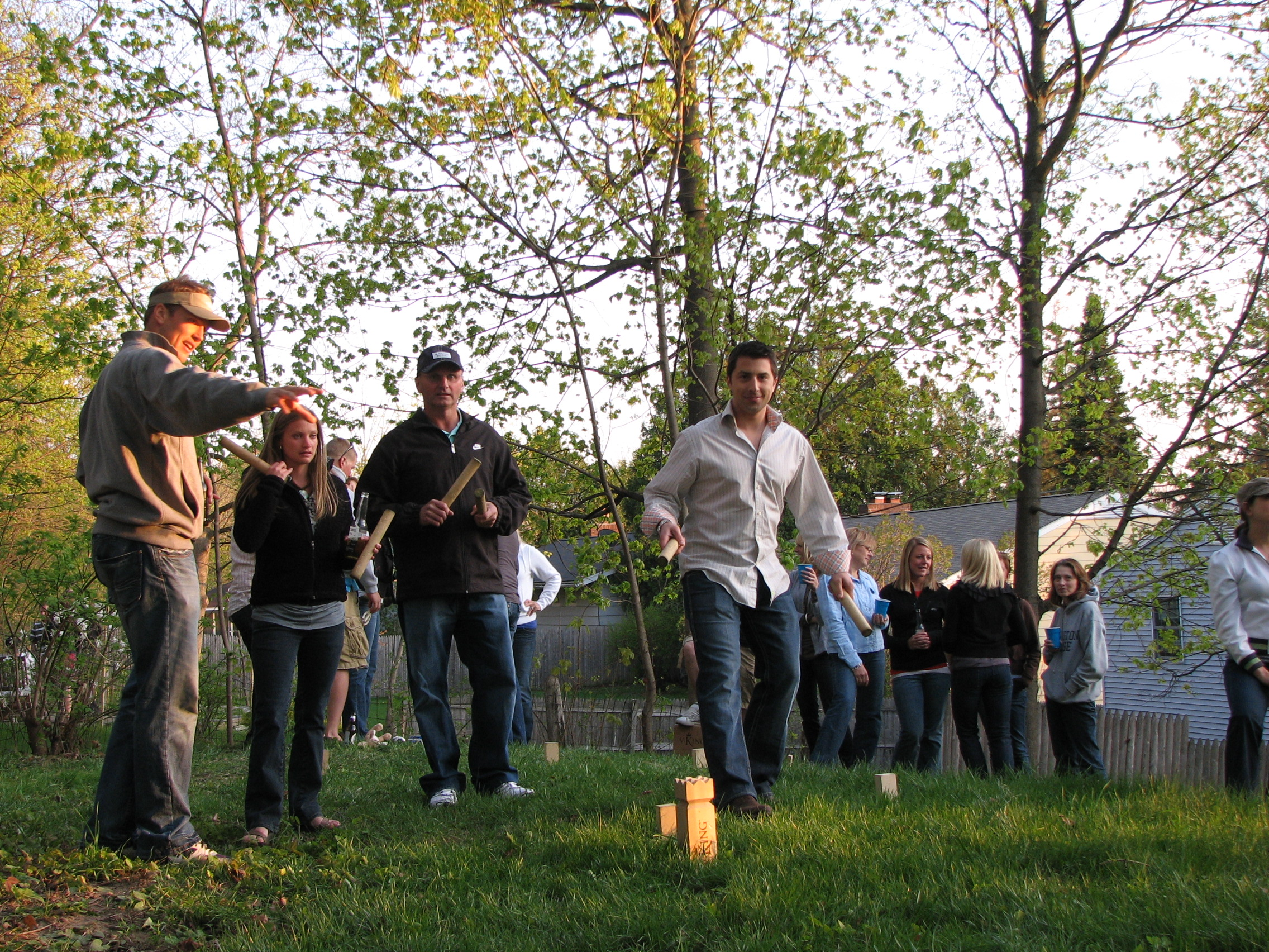 V:King is the perfect game for your backyard party. Up to 12 people can play at once.