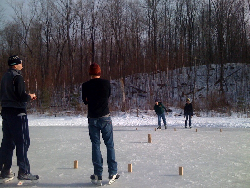 V:King can be played almost anywhere you have a flat, open space. Frozen ponds included!