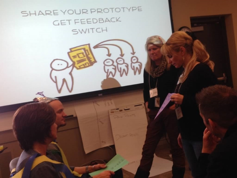 BVSD educators test out their prototypes with users aimed atimproving the snowy commute.