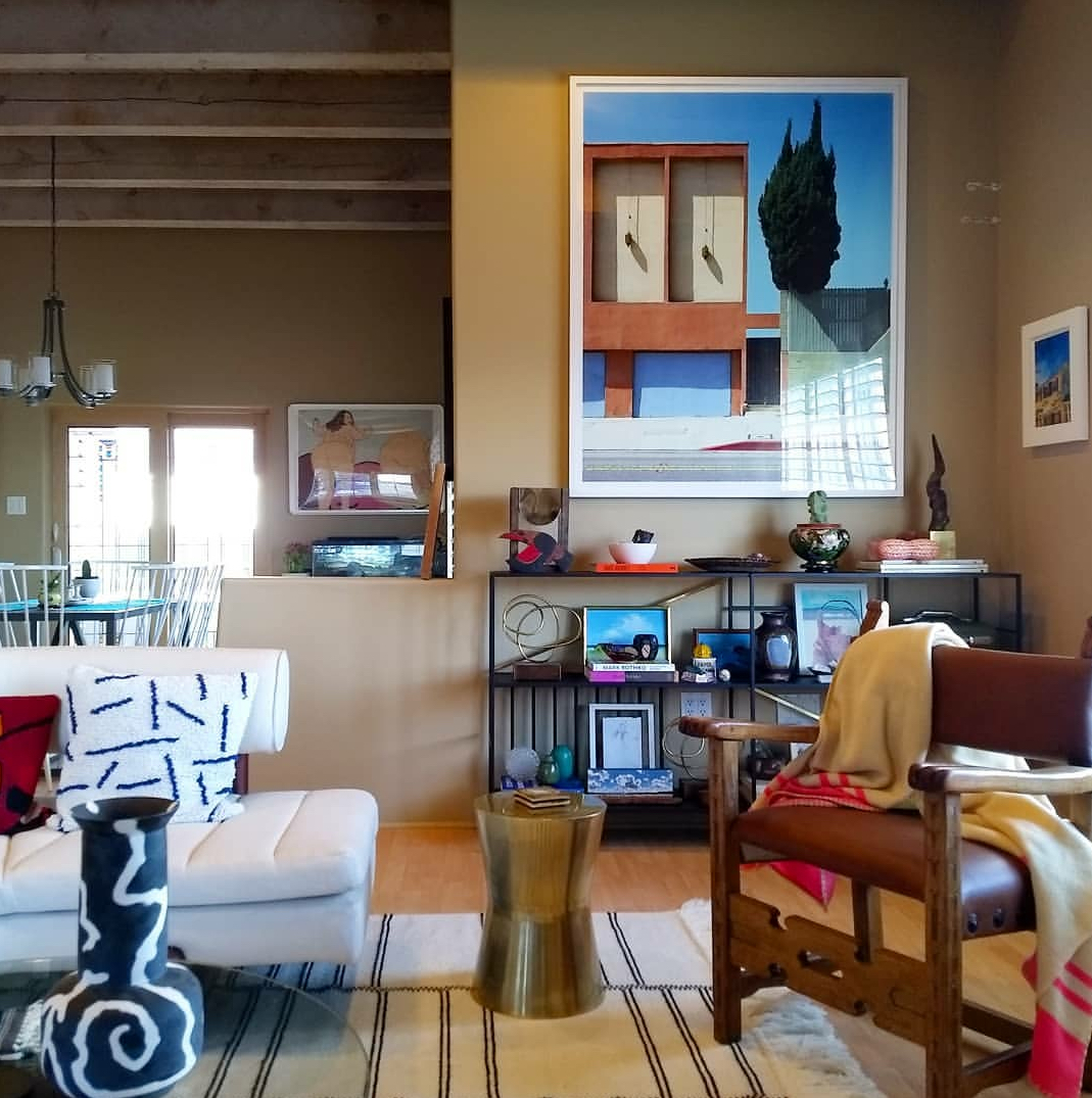 Living Room, Residential--Santa Fe, NM