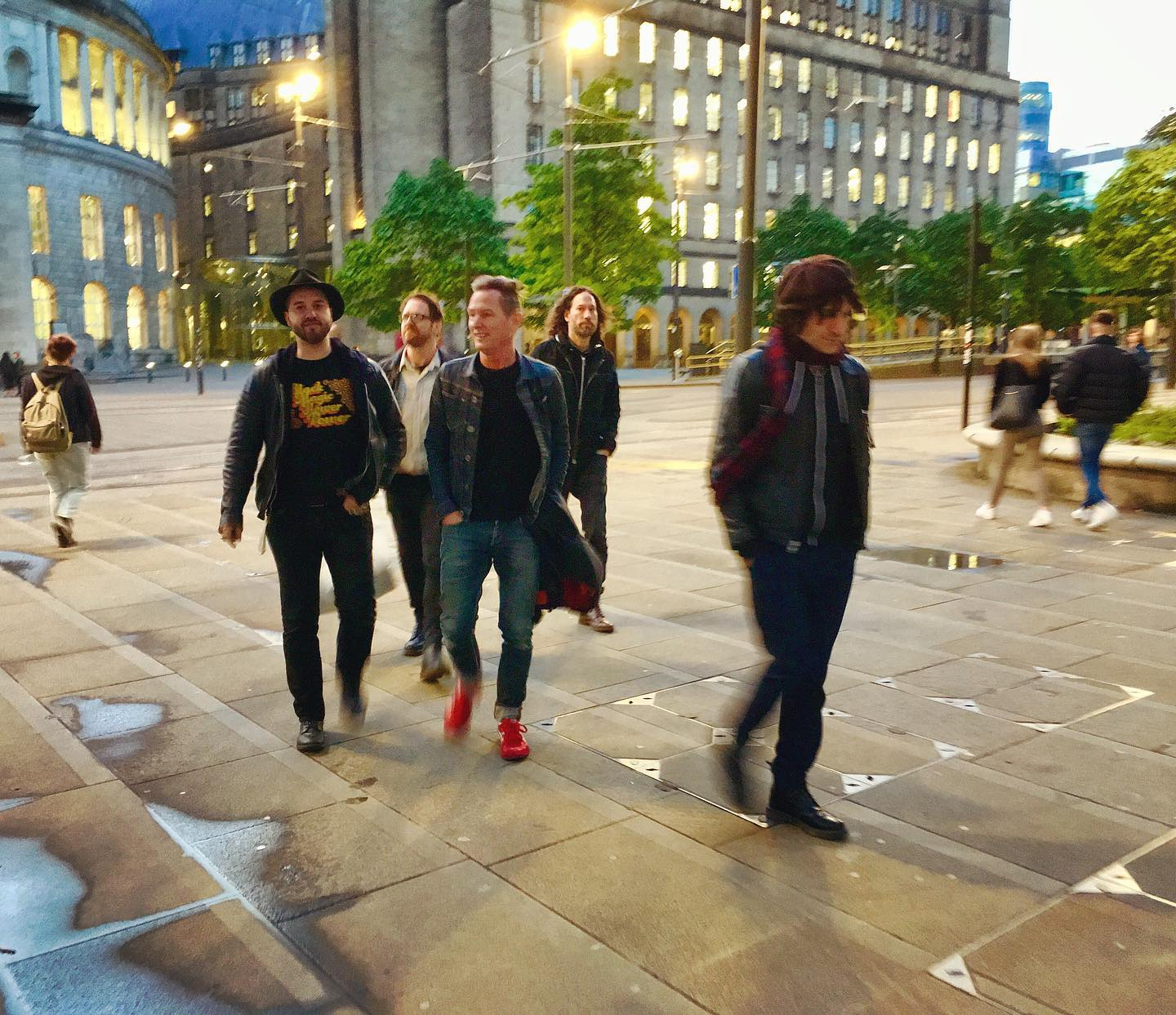 Evening stroll with the Jesse Malin crew. (Manchester)