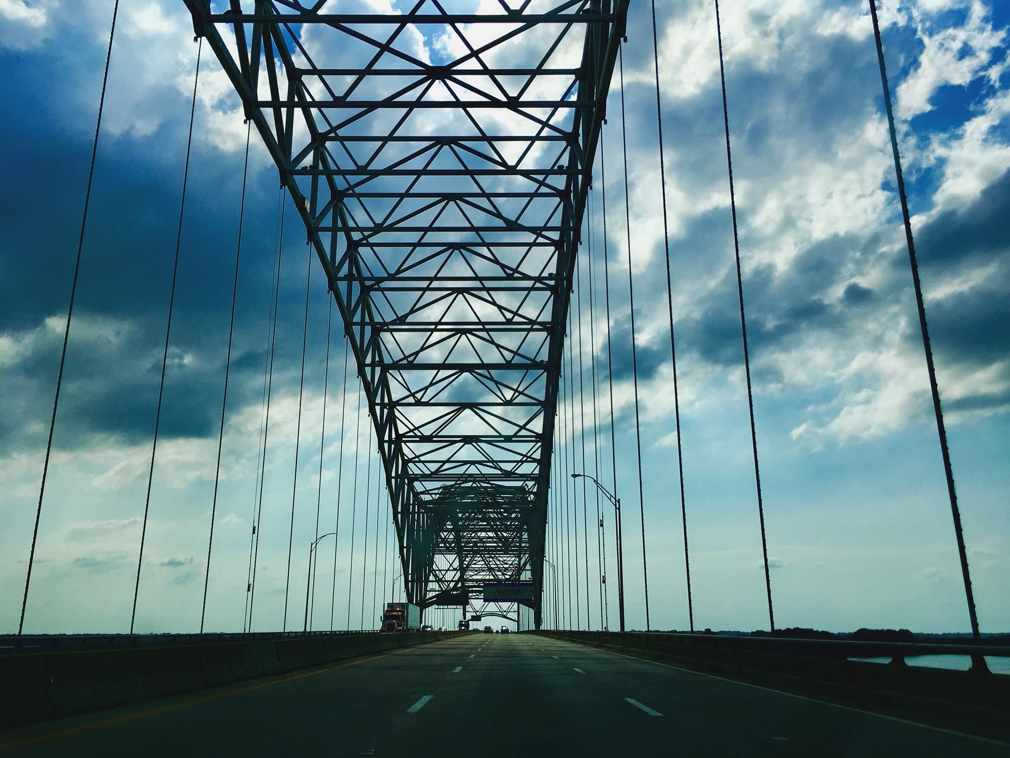 Crossing the Mississippi River from TN to AR.