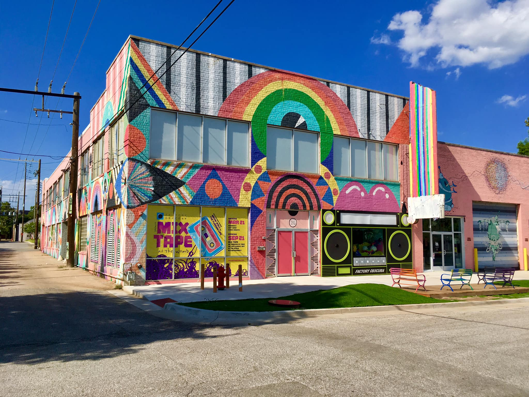 Former headquarters of The Flaming Lips in Oklahoma City. Now occupied by Factory Obscura for the MIX TAPE installation.