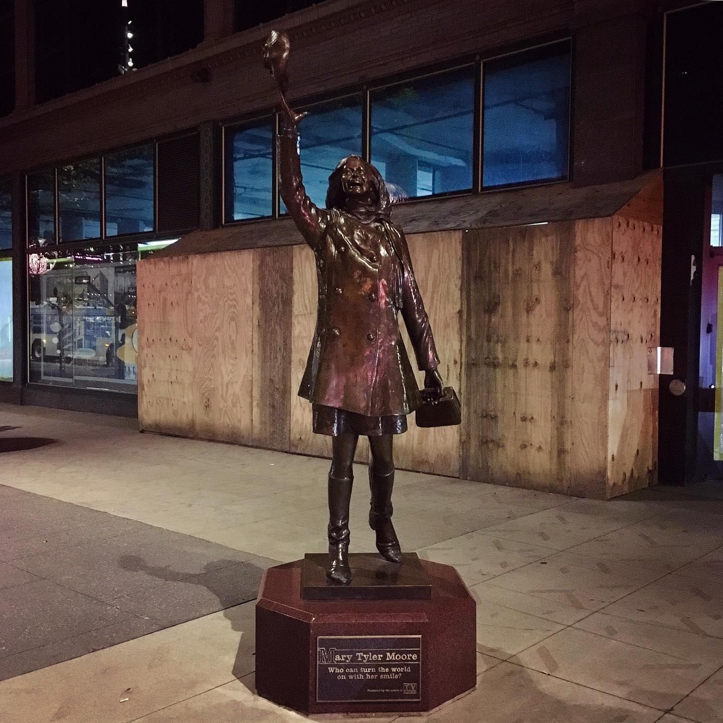Mary Tyler Moore made it after all, in Minneapolis, MN.