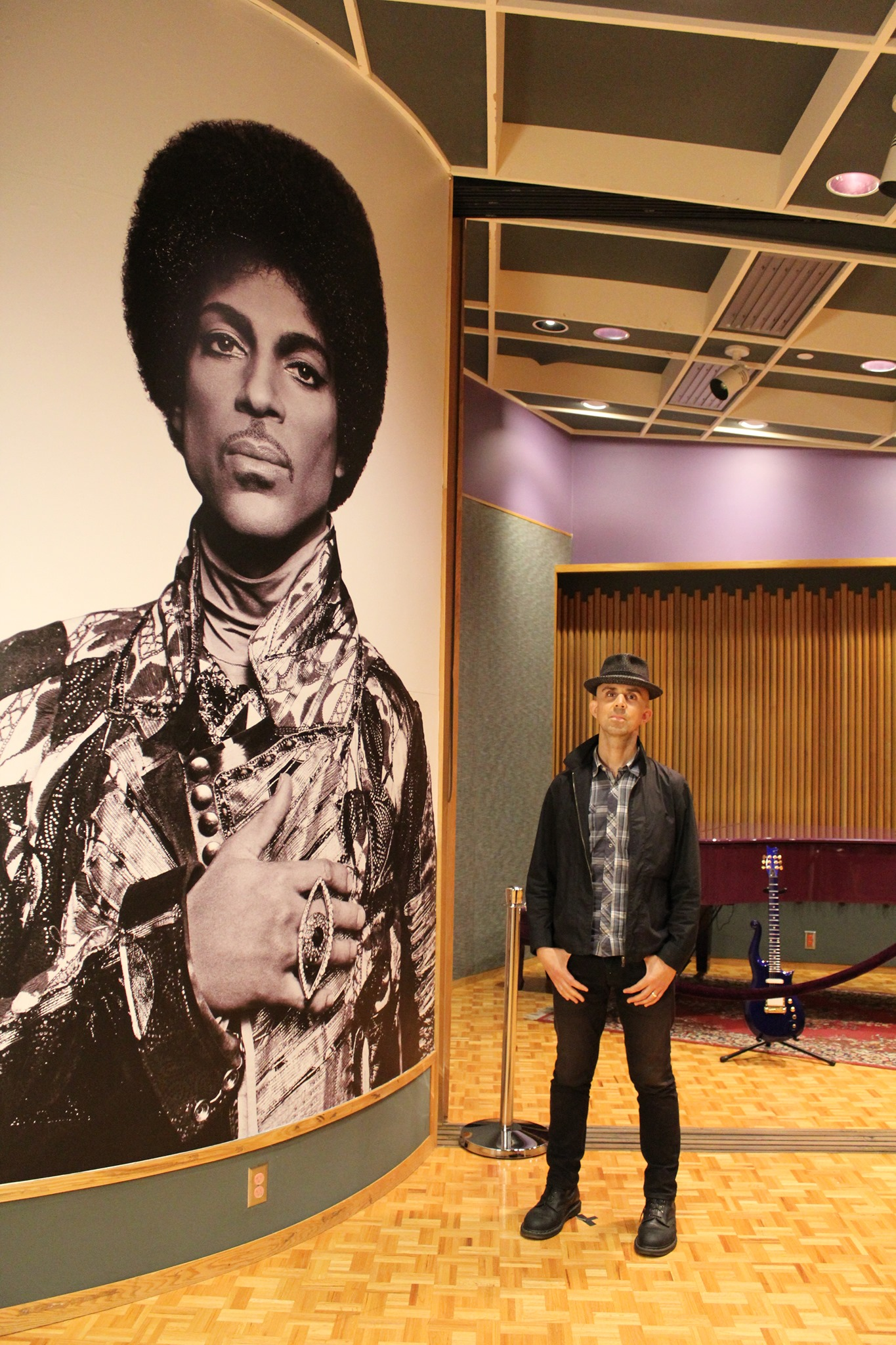 Inside the Palace of Prince aka Paisley Park in Chanhassen, MN.