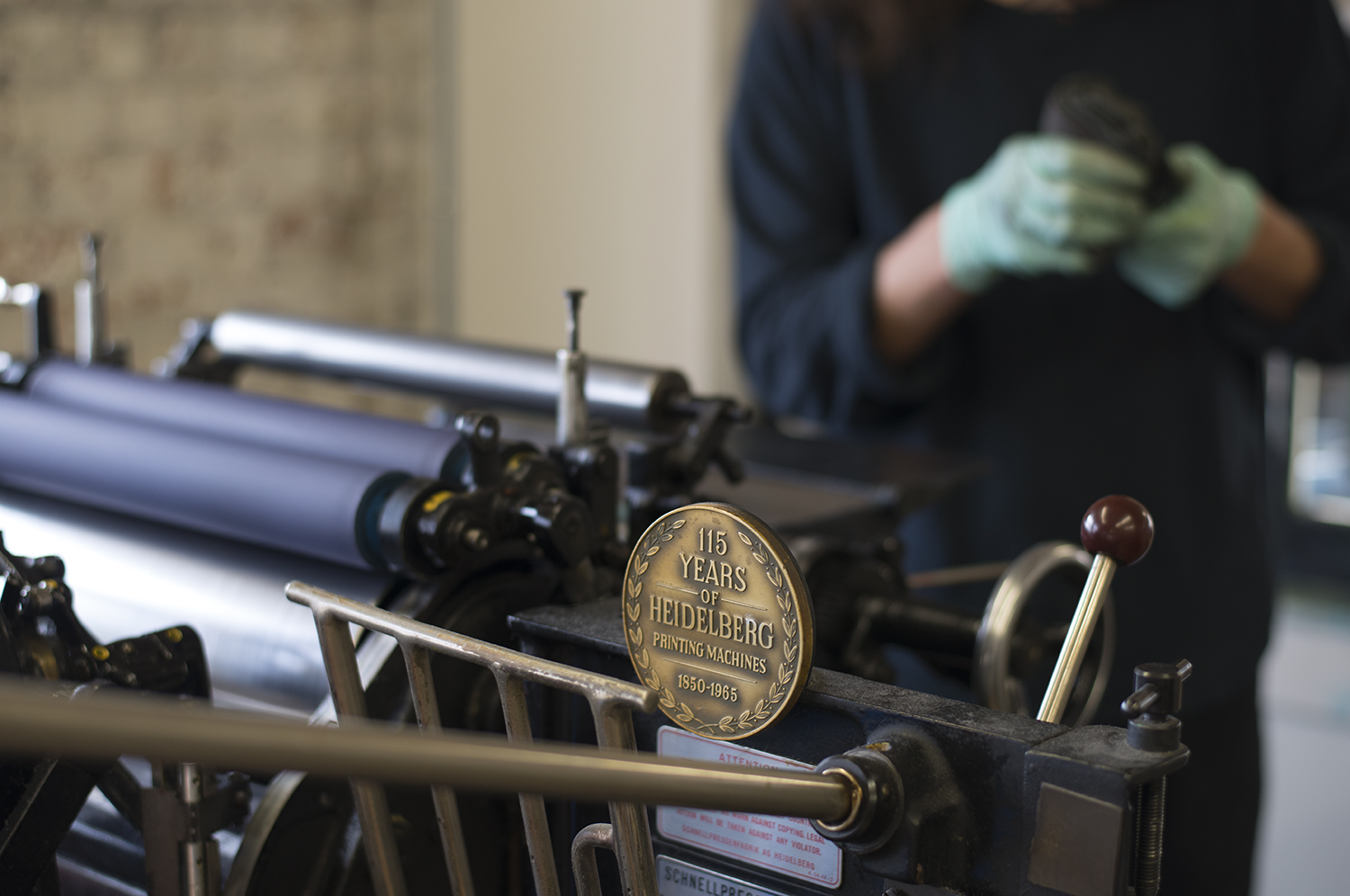 All of our Heidelberg Windmill printing presses date from the 1950's and 1960's.