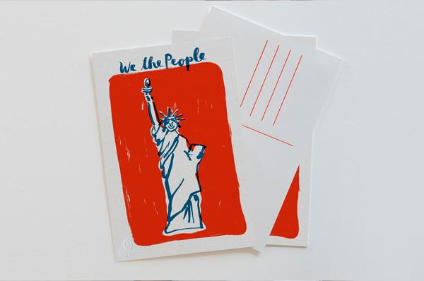 Egg Press'  Lady Liberty Postcard Set  shines a light on friendship, freedom, hope, and democracy.