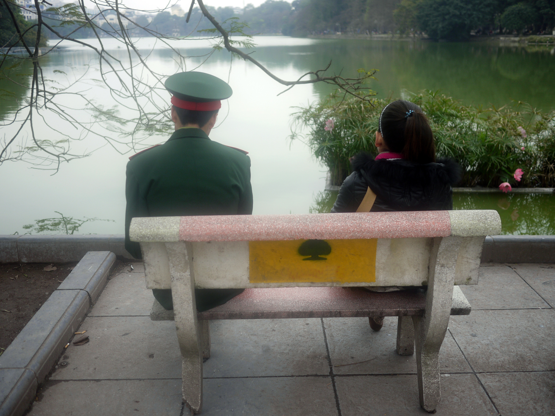 Couple on Hoan Kiem Lake, Hanoi, Vietnam (2015)