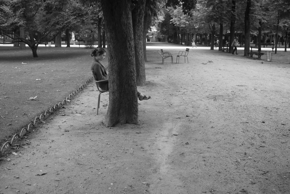 Woman in Luxembourg Gardens, Paris (2015)