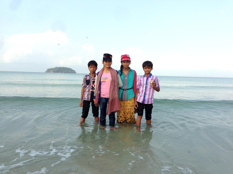 Kids on Beach at Sunrise,  Cambodia (2015)