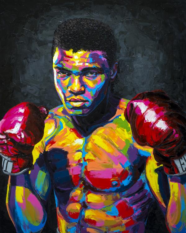 """Go Get Some,"" Brent Estabrook, 2015, oil on canvas, 60""x48""x2.5"", $9,500"