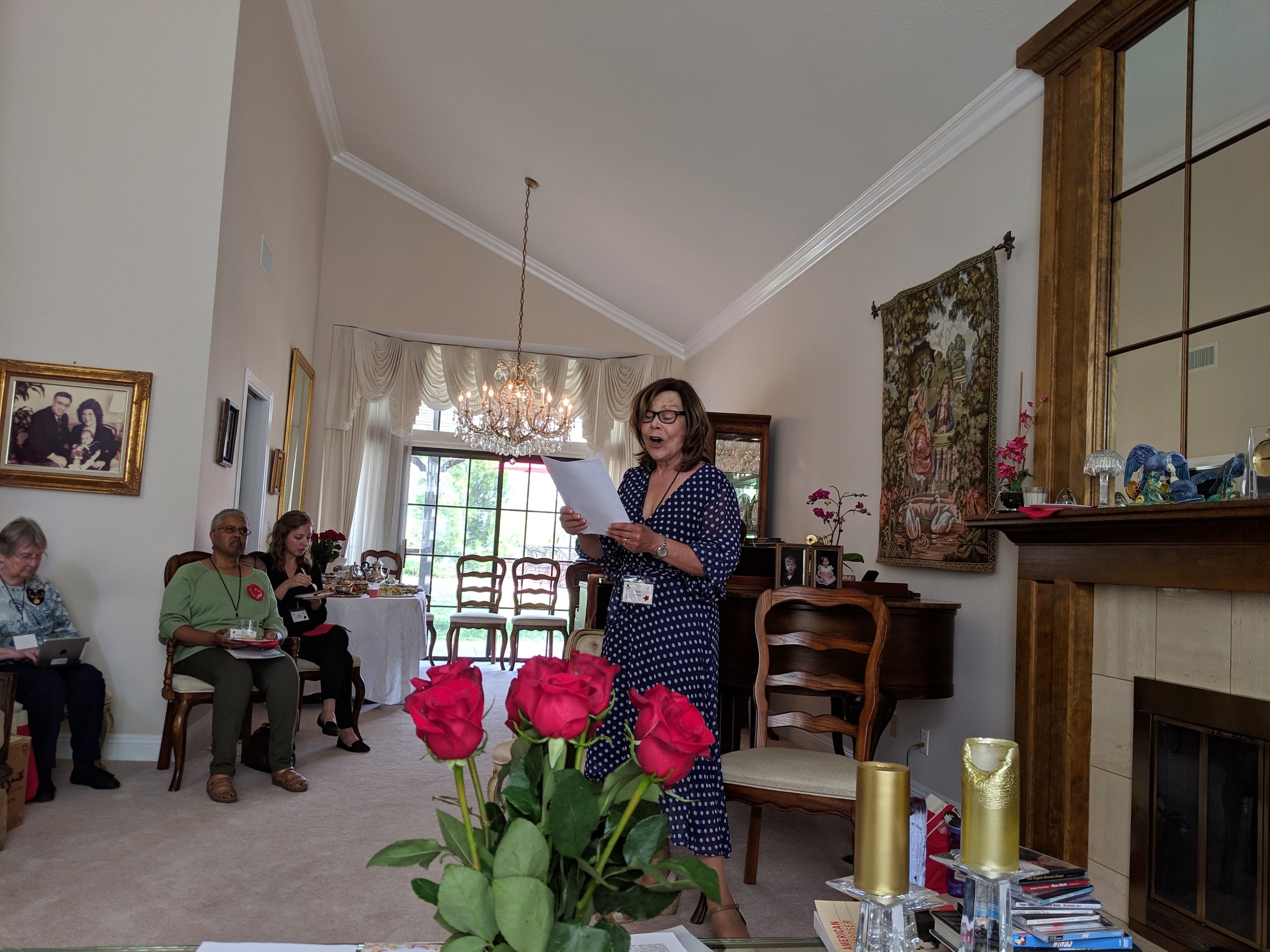 April 2019 Meeting Host Gail Brow