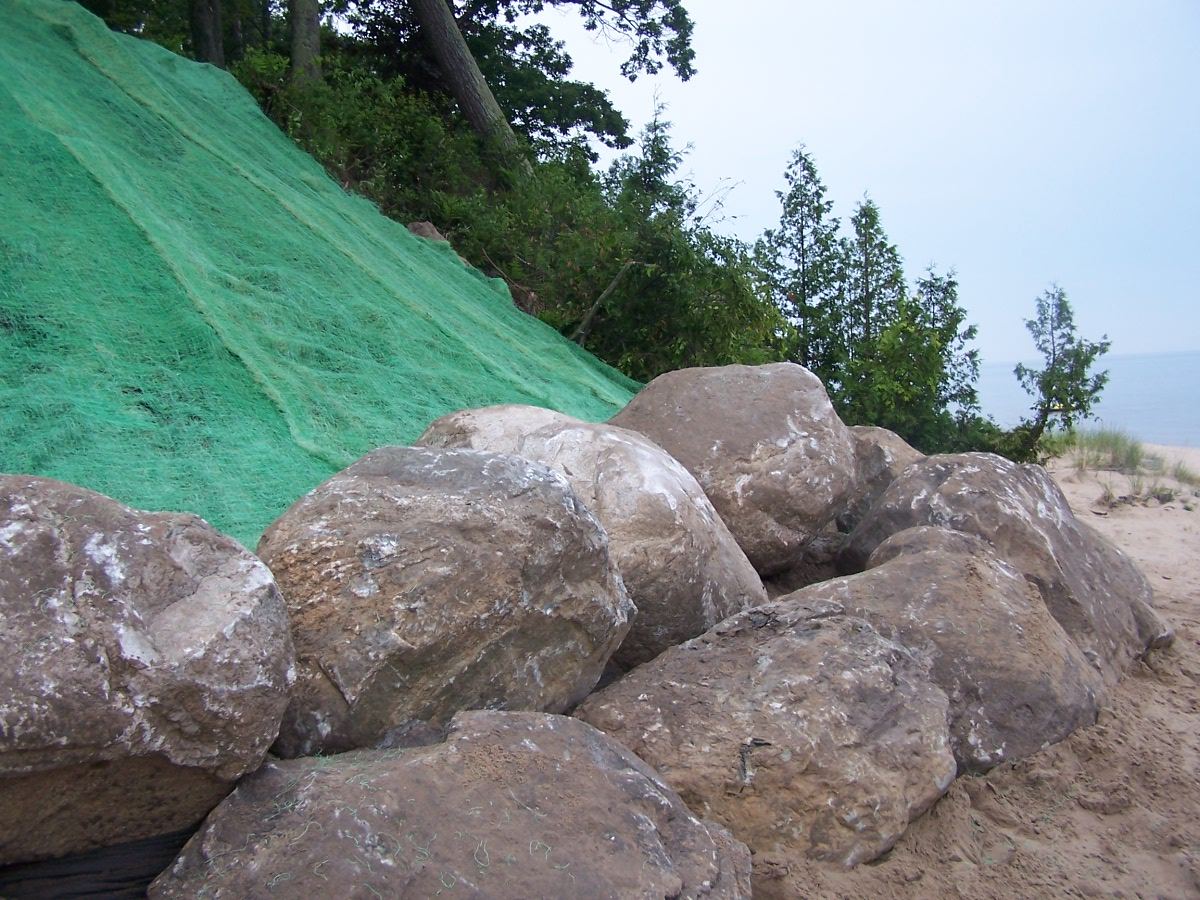 Bluff Stabilization with Boulders on Lake Michigan