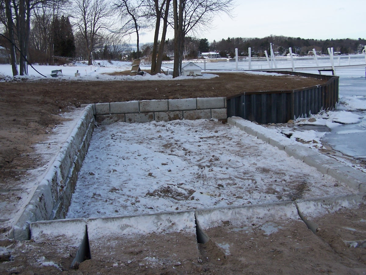 Steel Seawall/Redi-Rock Placement/Residential Beach Area, photo 2