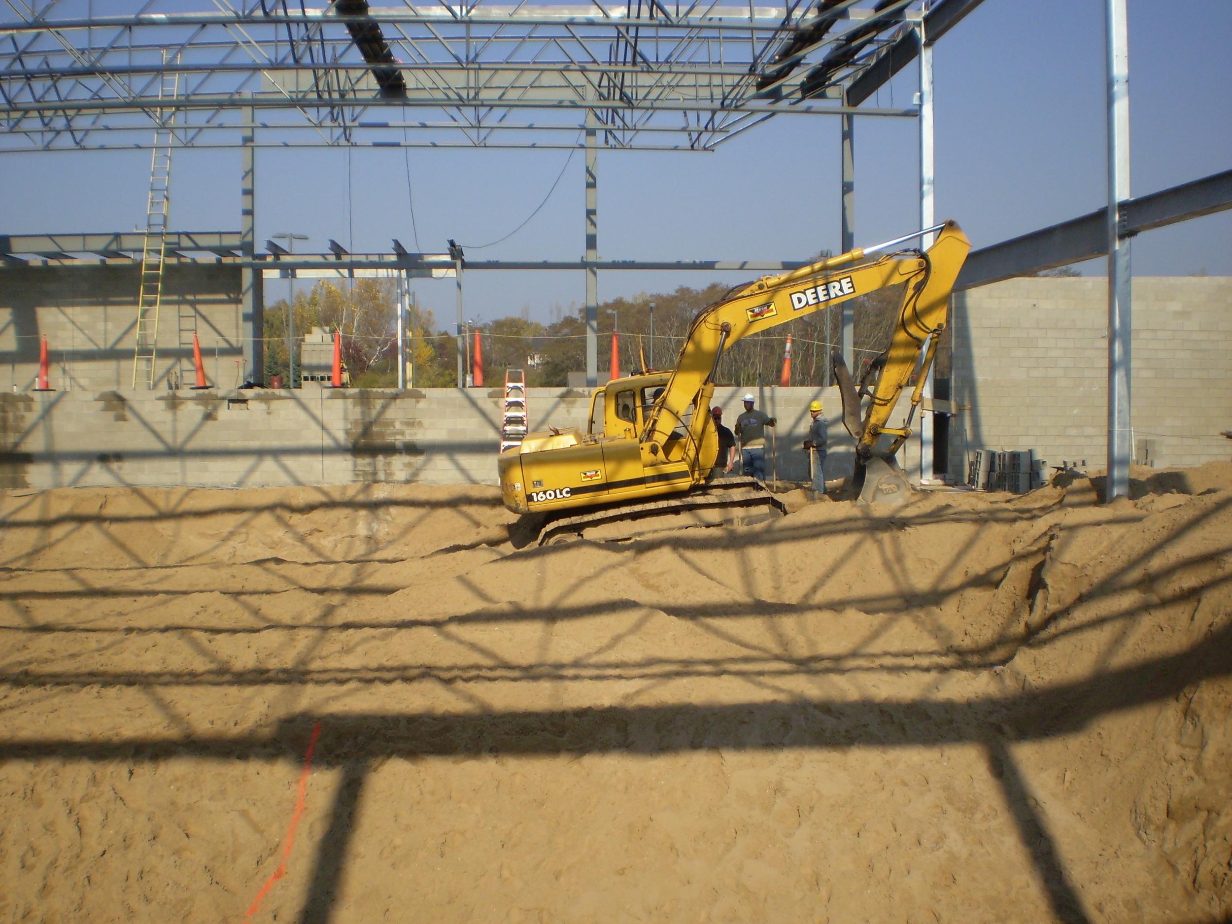 Excavation for Paine Aquatic Center, Manistee