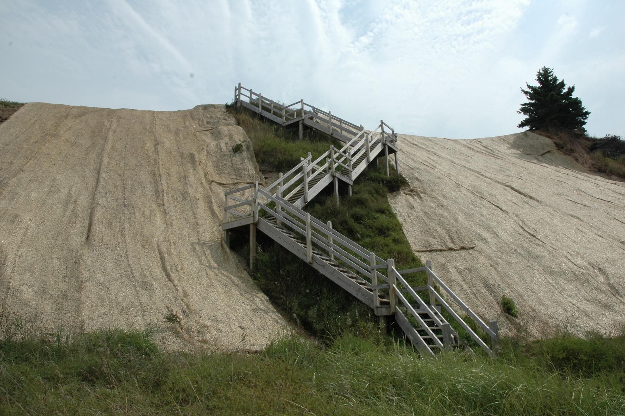 Bluff Stabilization on Lake Michigan