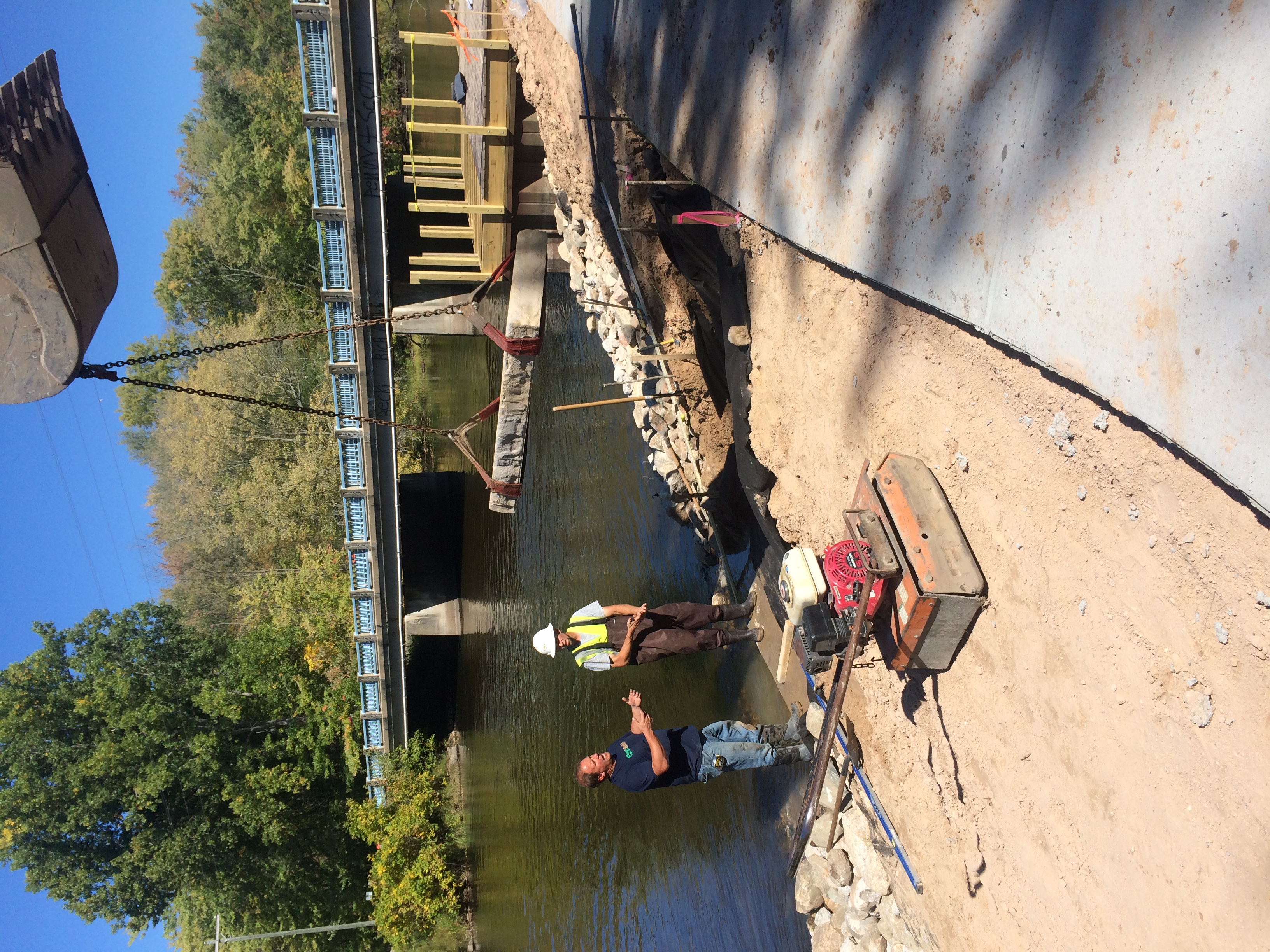 Custer Barrier Free Fish Access Project: setting Rosetta Stone steps