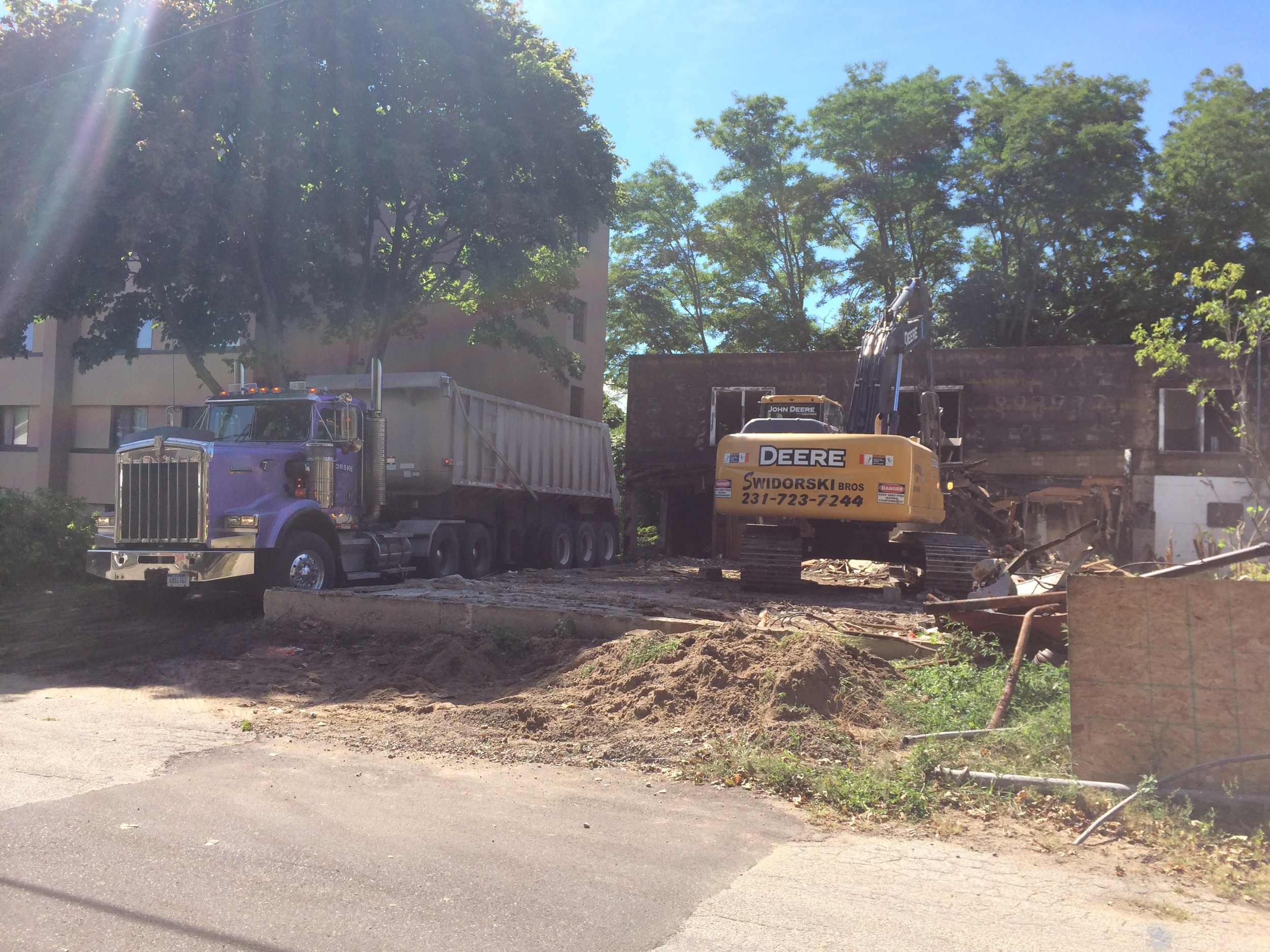Manistee Plating Building Demolition and Clean-up, photo 2