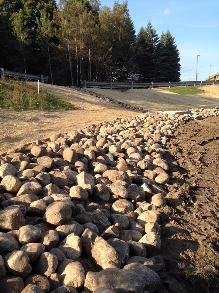 WSCC Dam Repair Project: natural rock