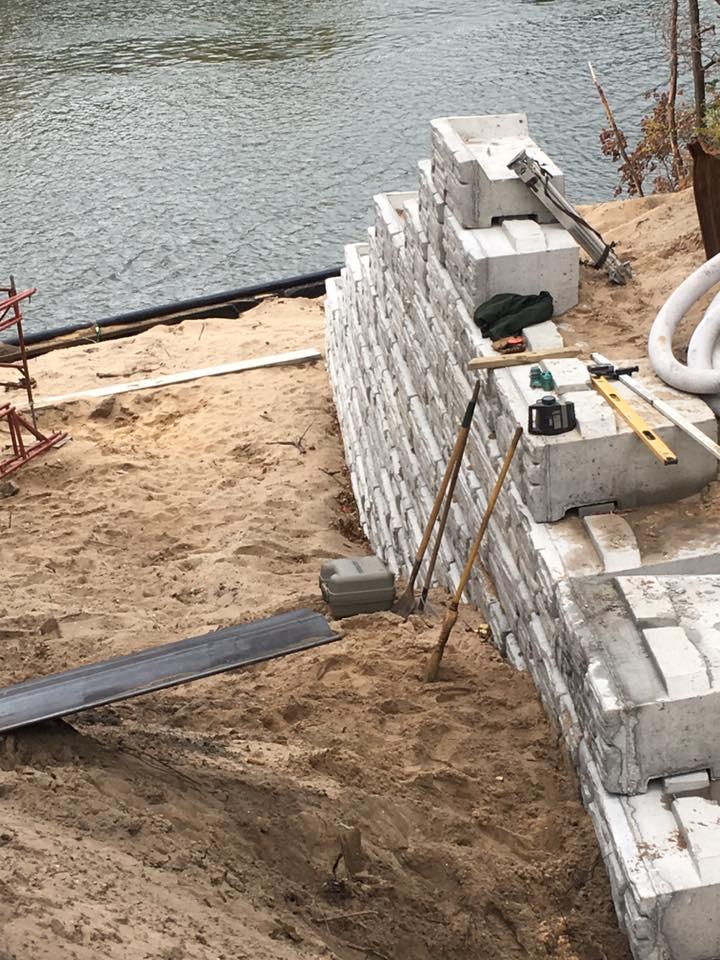 Short Street Retaining Wall Project: start of wall