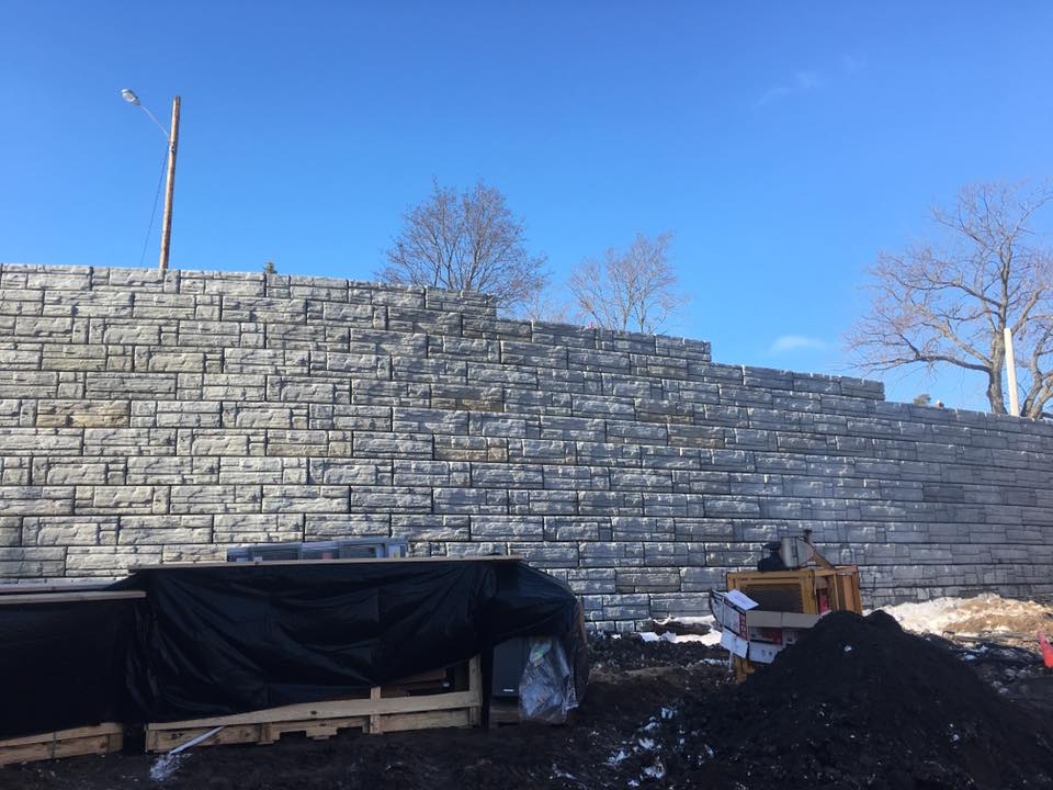 Short Street Retaining Wall Project: up to 20' high
