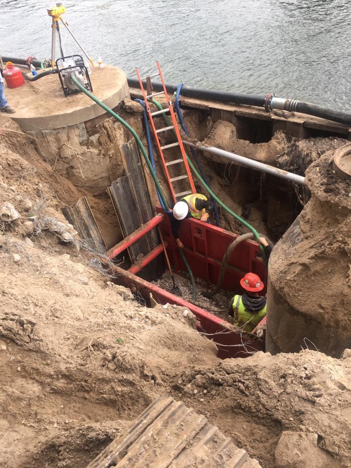 6th Avenue Pump Station Project: bore & jack