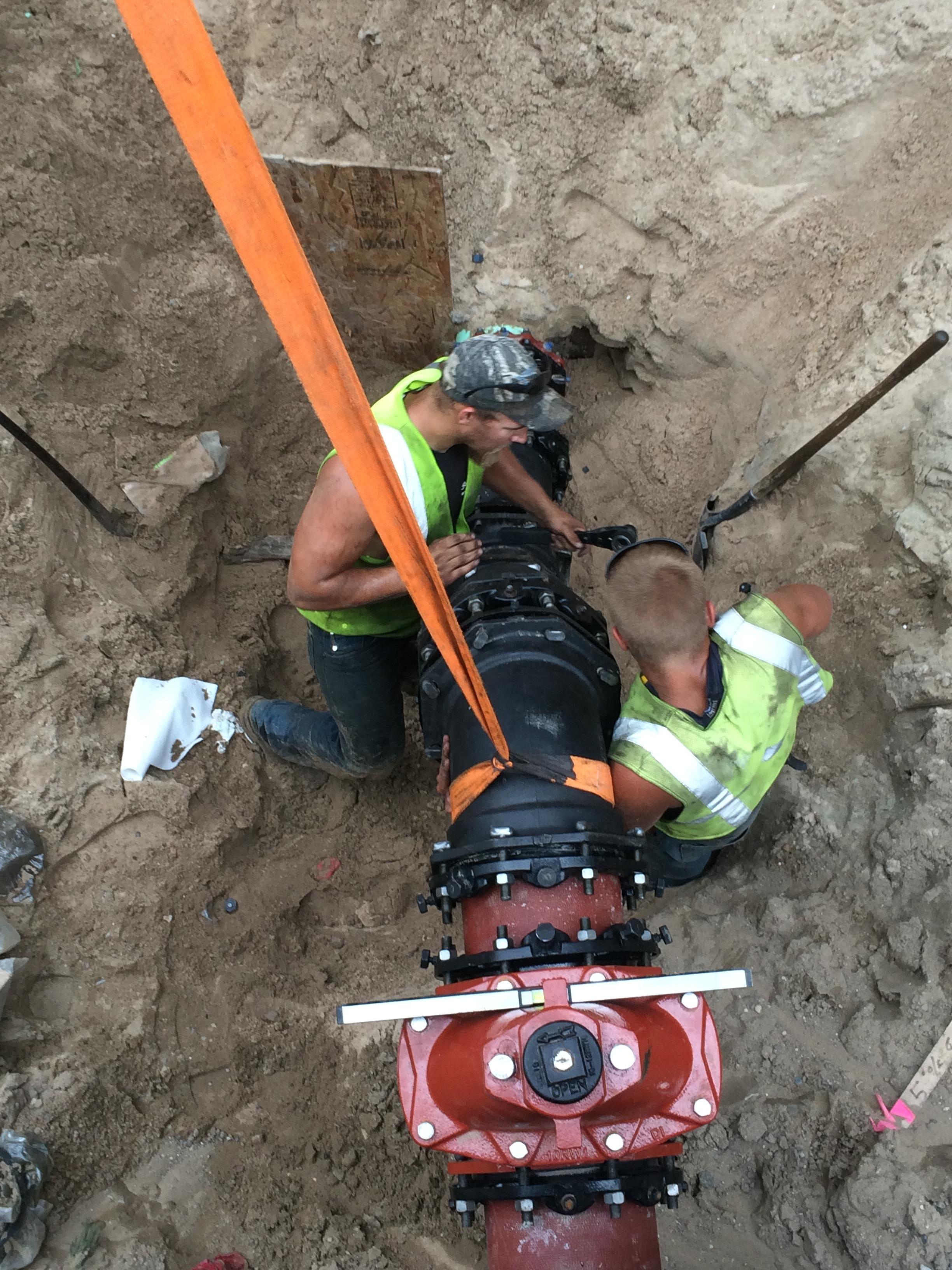 6th Avenue Pump Station project: ductile forcemain