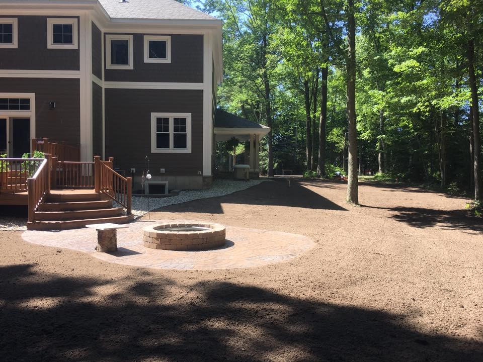 Site work/topsoil yard