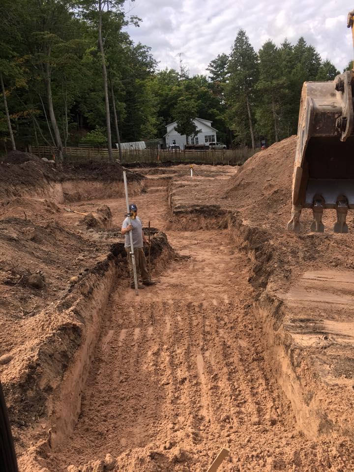 Digging new home footings