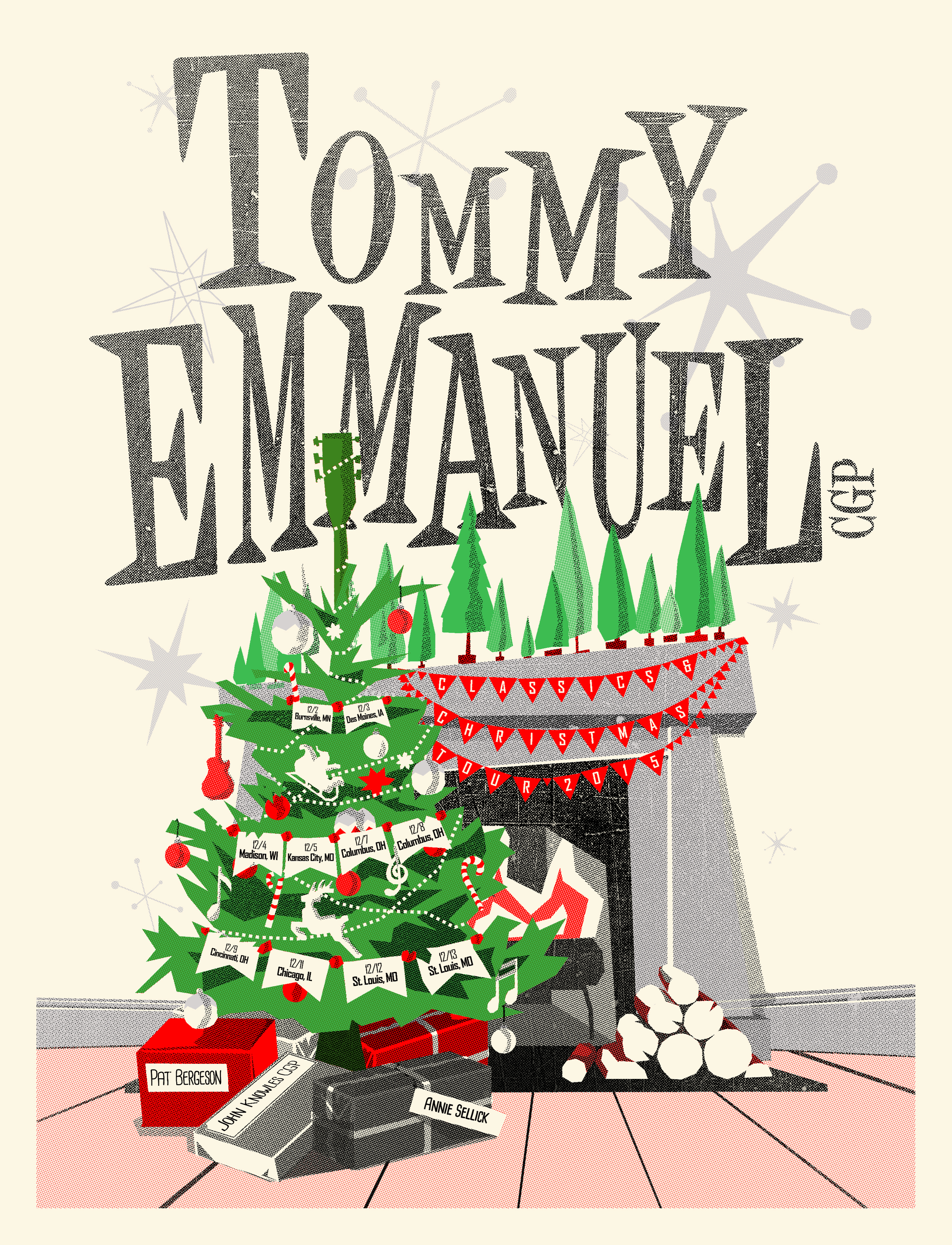 Tommy Emmanuel Christmas Tour Poster