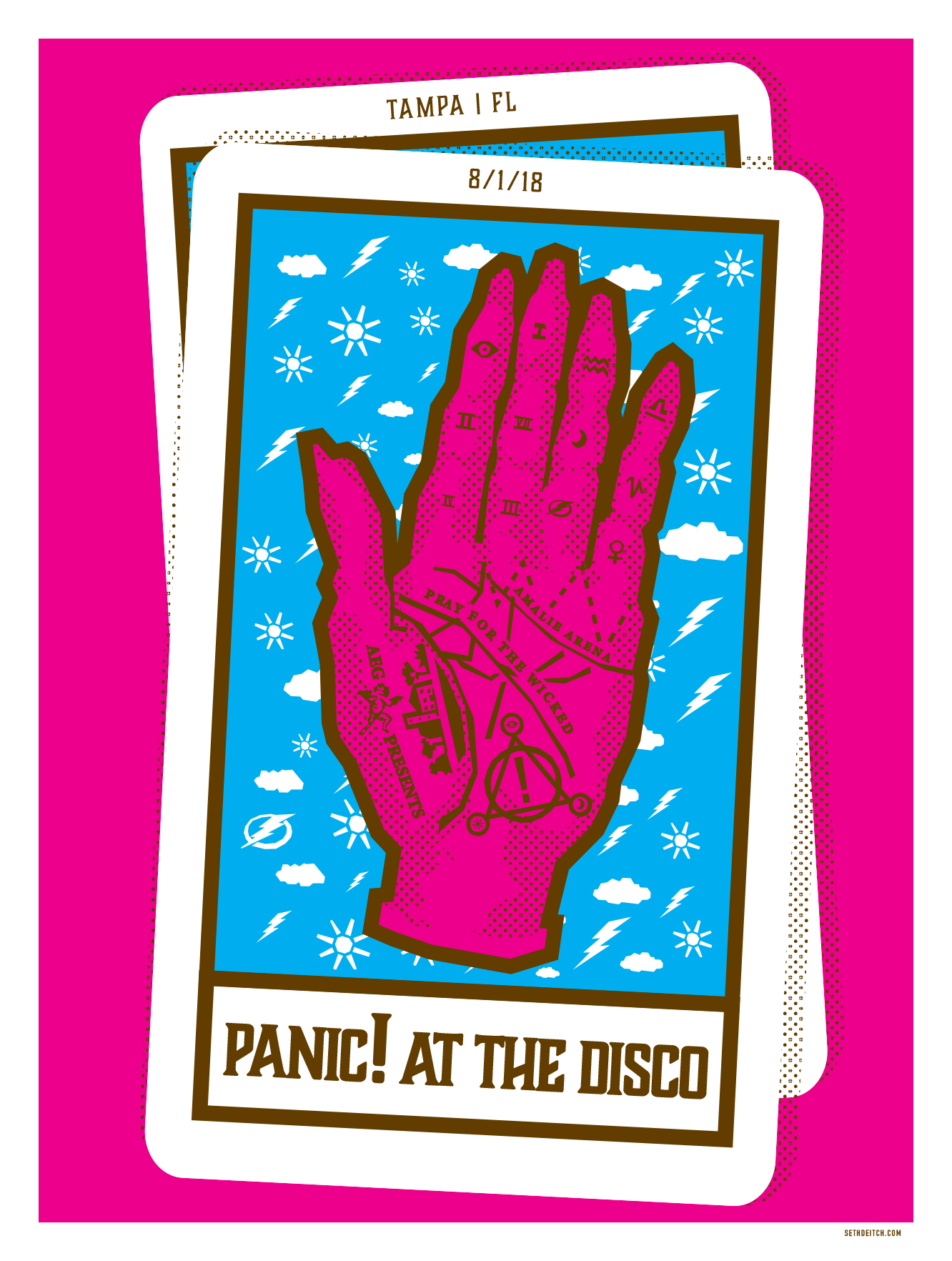 Panic! At the Disco - 3 Color Screen Print