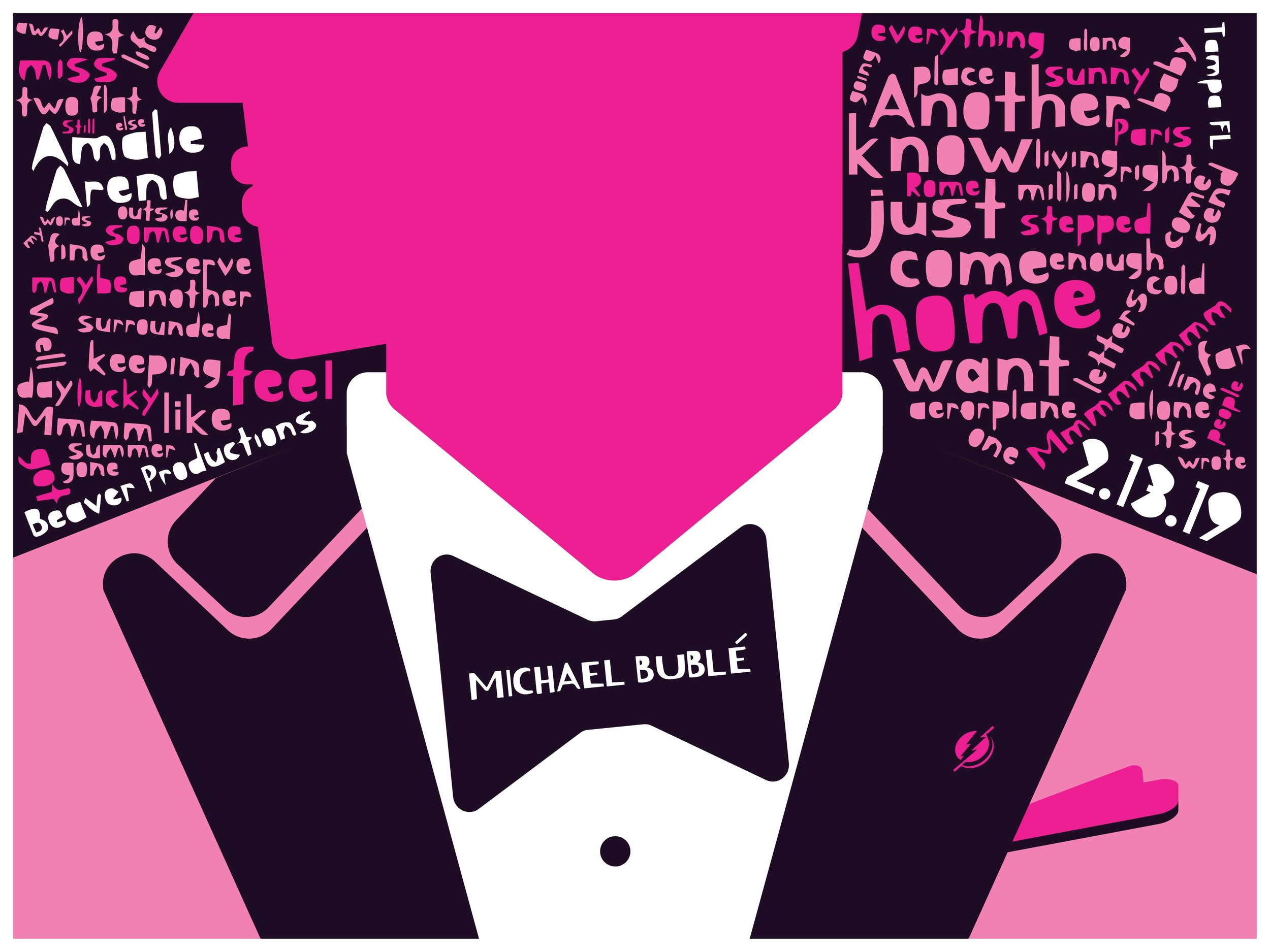 Michael Buble -- 3 Color Screen Print